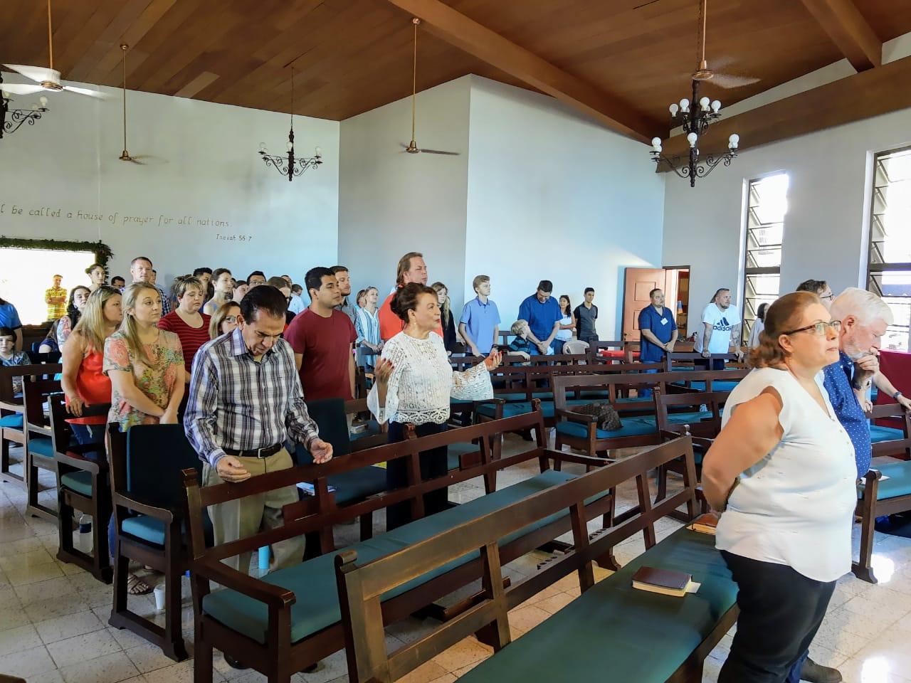 Singing and praying.